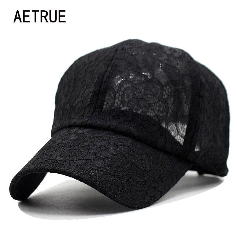 2018 nueva gorra de béisbol mujeres SnapBack CAPS sombreros para las mujeres  Niñas casquette gorras del hueso de la marca Encaje floral señora moda Sol  ... 9fbdba31d34