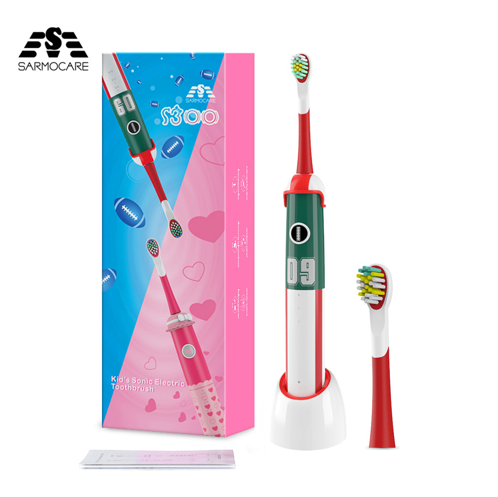 Sonic Kids Electric Toothbrushes Rechargeable with Timer for childs Toddler Electronic Toothbrush for Travel with 2 ToothBrushes image