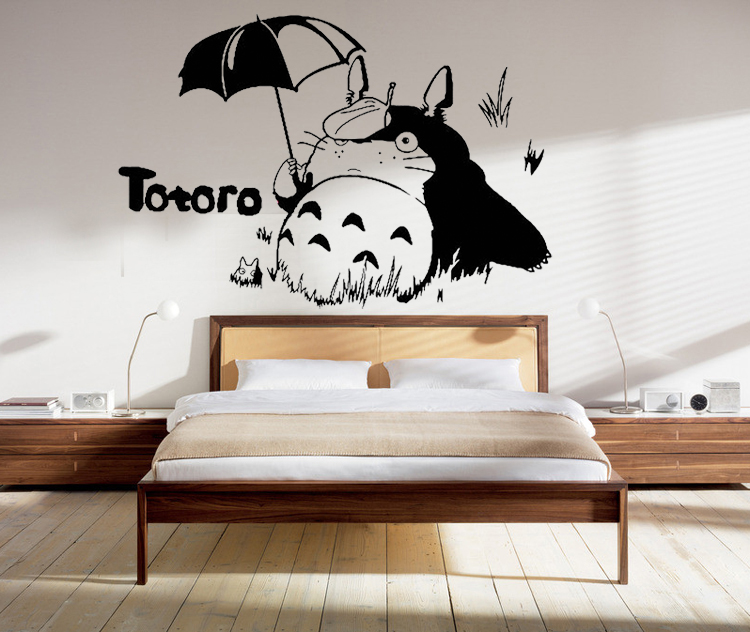 Japanese Room Decor totoro vinyl wall decal japanese cartoon totoro mural art wall