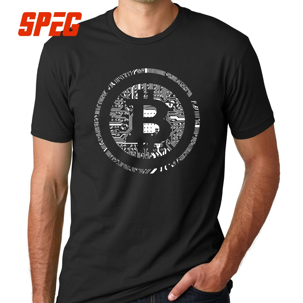 T Shirts Bitcoin Cryptocurrency Cyber Currency Financial Revolution T-Shirt Plain Youth Round Collar Short Sleeve Tee Shirts