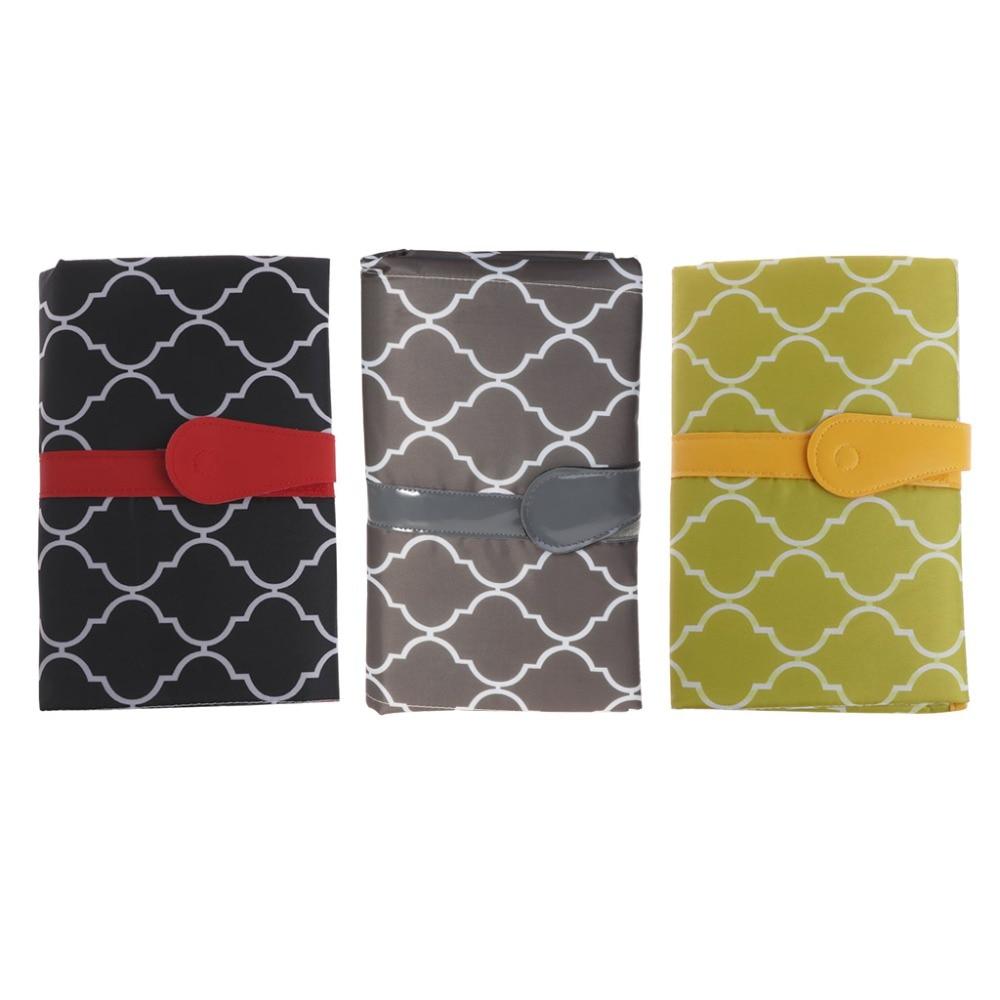 Baby Nappy Diaper Handbag Folded Mommy Bag Changing Change Clutch Mat Foldable Pad Handbag Wallet Style