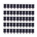 50 pcs micro usb 5 pin t porto masculino tomada conector tampa de plástico diy