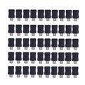 50 unids micro usb 5 pin t puerto macho macho hembra conector cubierta de plástico bricolaje