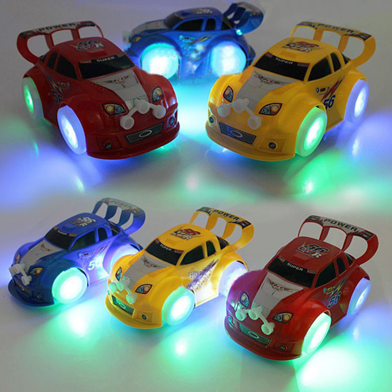 Light Up Car Toys Musical Baby Toys Electric Car Model Boys Kids Toys Automatic Steering Car Toys For Children Christmas Gift