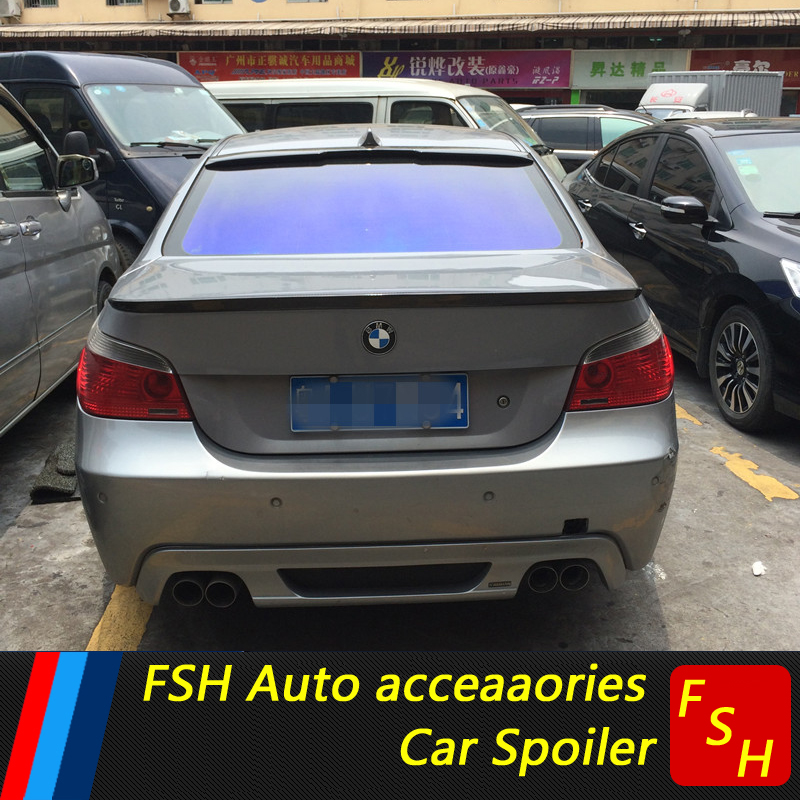 For BMW 5 E60 Spoiler High Quality ABS Car Rear Wing Spoiler For BMW E60 M5 520 525 528 535 Spoiler 2004-2010