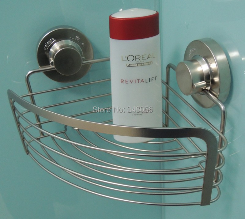 Bathroom Accessories With Suction Cups corner-basket-bathroom-accessories-stainless-steeel-suction-cup -shower-caddy-shower-shelf-storage-basket-deep-corner