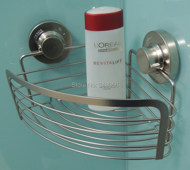 Elegant Corner Basket Bathroom Accessories Stainless Steeel Suction Cup Shower  Caddy Shower Shelf Storage Basket Deep Corner