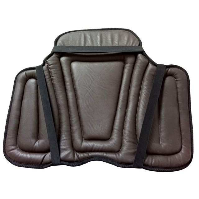 Equestrian PU Saddle Pads Black Horse Riding Saddle Pad Soft Equestrian Seat Pad Horse Riding Equipment Paardensport Cheval A