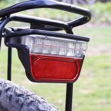 Onature חשמלי אופני אור עבור Ebike טאיליט DC 6V 12V 24V 36V 48V 60V e אופני אופניים אחורי זנב אור רכיבה על אופניים אבזרים