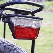 Onature vélo électrique lumière pour Ebike feu arrière DC 6V 12V 24V 36V 48V 60V vélo e bike arrière feu arrière vélo accessoires