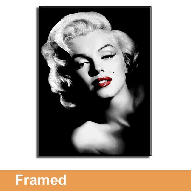 Enmarcado lienzo arte de la pared para sala de estar pared, Marilyn ...