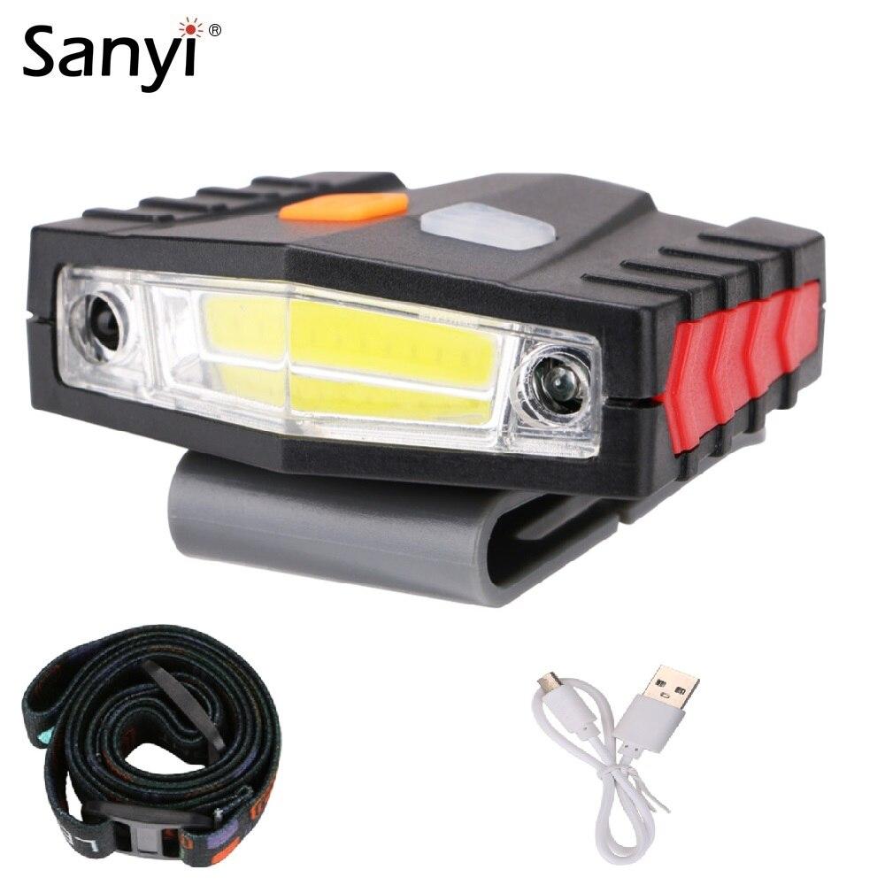 USB Sensor Head Light Torch Headlamp Headlight Lamp Rechargeable 3500LM Bike UK
