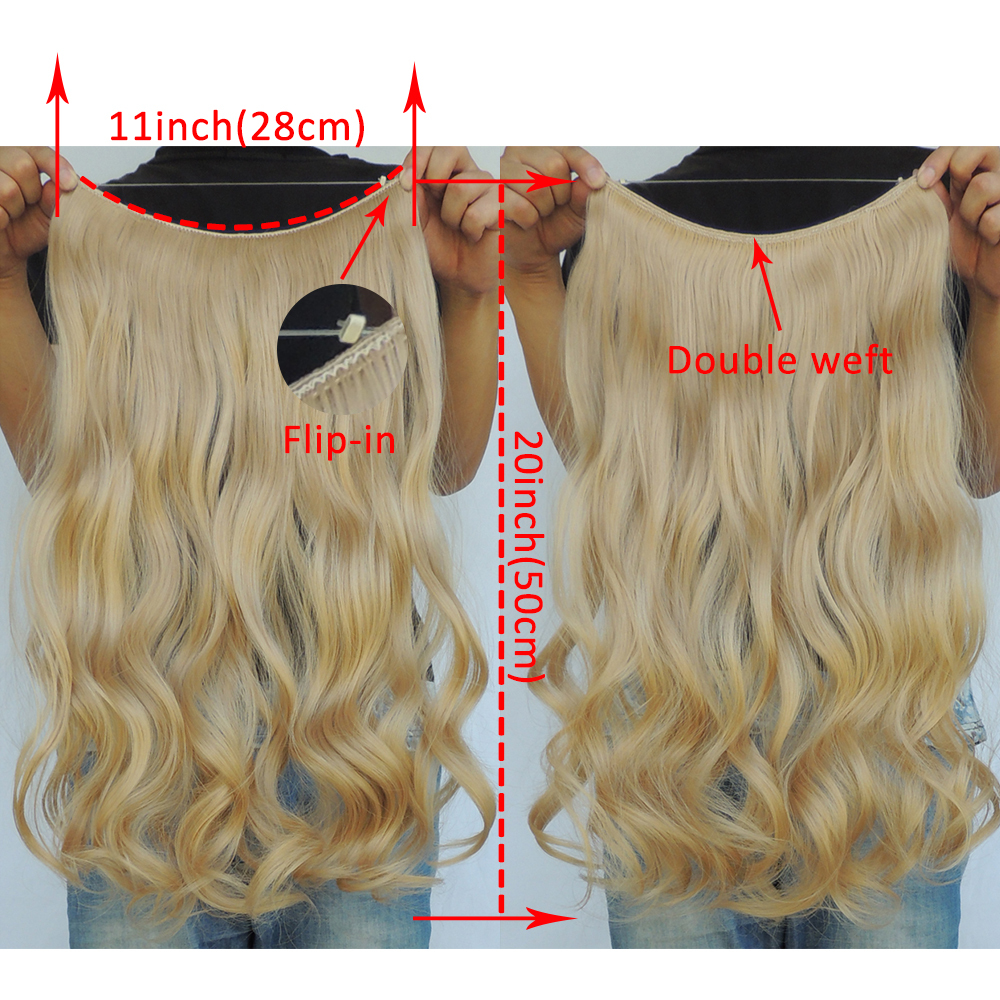 Mega Hair Extension Curly Flip In Haar Extensions 20 Inch Halo