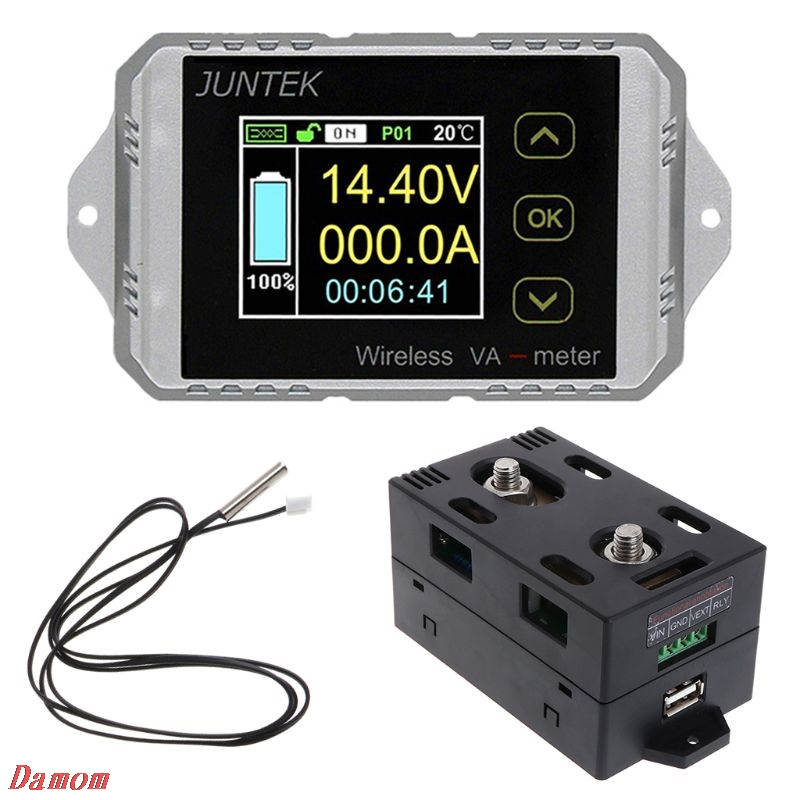 2018 New DC 120V 50A~300A Wireless Ammeter Voltage KWh Watt Meter Car Battery Coulometer подвесной светильник lightstar 810030