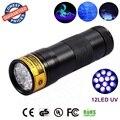 12 LED UV Ultra Violet Lamp Torch Flashlight for Anti-fake uv Flashlight