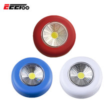 EeeToo LED Light COB Cabinet Light Wireless Sticker Cupboard Lamp Battery Powered Stair Lighting Night Light for Kitchen Bedroom(China)