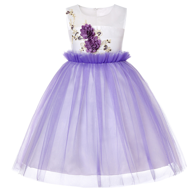 Kids Dresses For Girls Tutu Birthday Princess Party Dress Princess Flower Girl Dresses For Age 2 3 4 5 6 7 8 9 10 12 14 15 Years 2