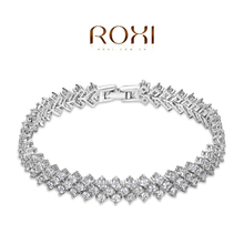 ROMAD Fashion Rings gold plated trendy jewelry wedding gift Austrian crystal fashion Environmental Micro Inserted Jewelry