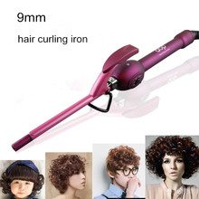 New Professional Men's curling iron hair sticks 9mm curling hair stick curlers fluffy Ceramic Hair Curling Iron free shipping