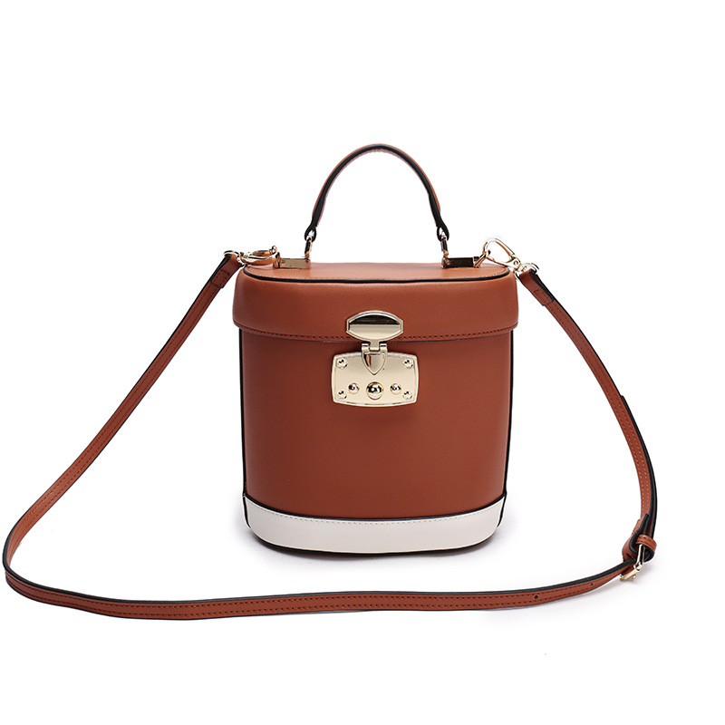 LKPRBD 2018 MINI bucket bag women Split leather MINI shoulder bag, Leather material bucket bag Fashion Mini Bag