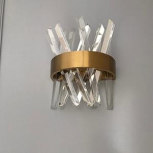Image 5 - Applique murale en cristal au design de luxe moderne, mur LED lumières, Dia25 x h33 cm, lustre, pour salon, chambre à coucher