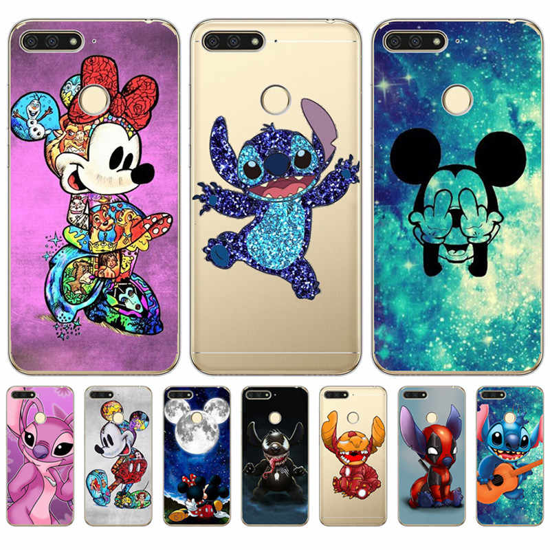 Luxury Stitch Mickey marvel For Huawei Honor 10 9 8 8X 8C 7A 7C 7X 7 6X 6A Lite phone Case Cover Funda Coque Etui capa Capinha
