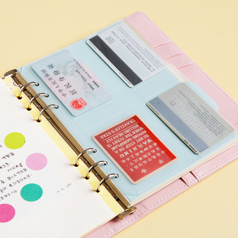 Binder Folder Filing-Products Presentation Spiral Concise-Diario-Planner Zipper A5 PVC