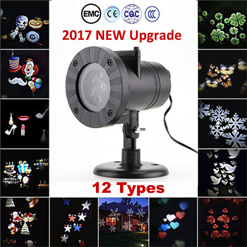 oobest Christmas Laser Snowflake Projector Lamp Waterproof Outdoor LED Stage Lights Fair ...