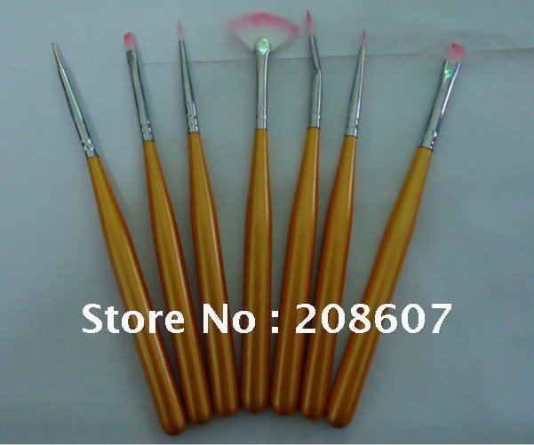Free Shipping Nail painting pen 7 Set / petals pen / nail row pen / pen set nail art wholesale flowers