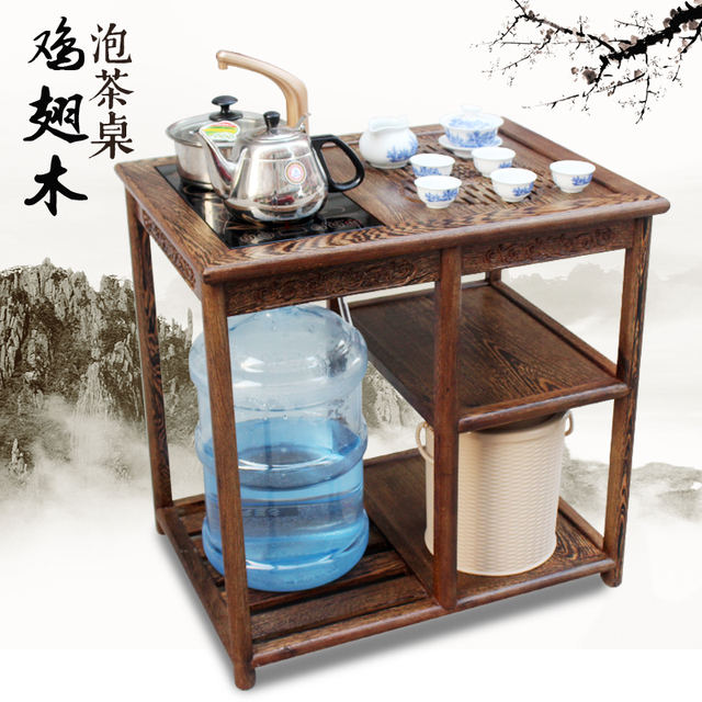 Mahogany Tea Table Wenge Wood Chinese Living Room Coffee Ming Small Mobile  Cart Teasideend