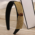 Korean pop wide hair hair hoop han edition bow head band sequins diamond hairpin all Korean pressure head hoop female