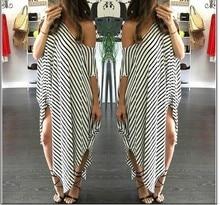 Off shoulder top Summer dress Sundress clothes for women Striped Hole Big size Dresses plus 2019 party dresses