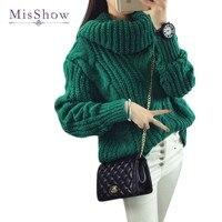 2016 Sweater Women Turtleneck Pullovers Solid Cardigan Women Autumn Korean Sweaters Pull Femme