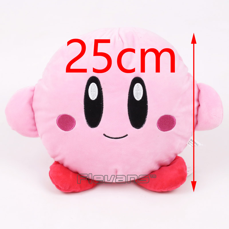 Cute Kirby Pillow Cushion Plush Toys Baby Toys Soft Stuffed Dolls Gifts for Children 25cm bookfong octopus plush toys dolls the cute pillow seat cushion backrest the stuffed toys for children christmas gifts