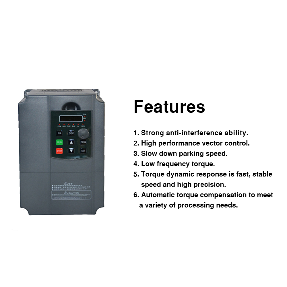 7 5KW/5 5KW 220V AC Single Phase Input 3Phase Output Frequency Converter  VFD Frequency Inverter Motor Driver Controller 50/60Hz