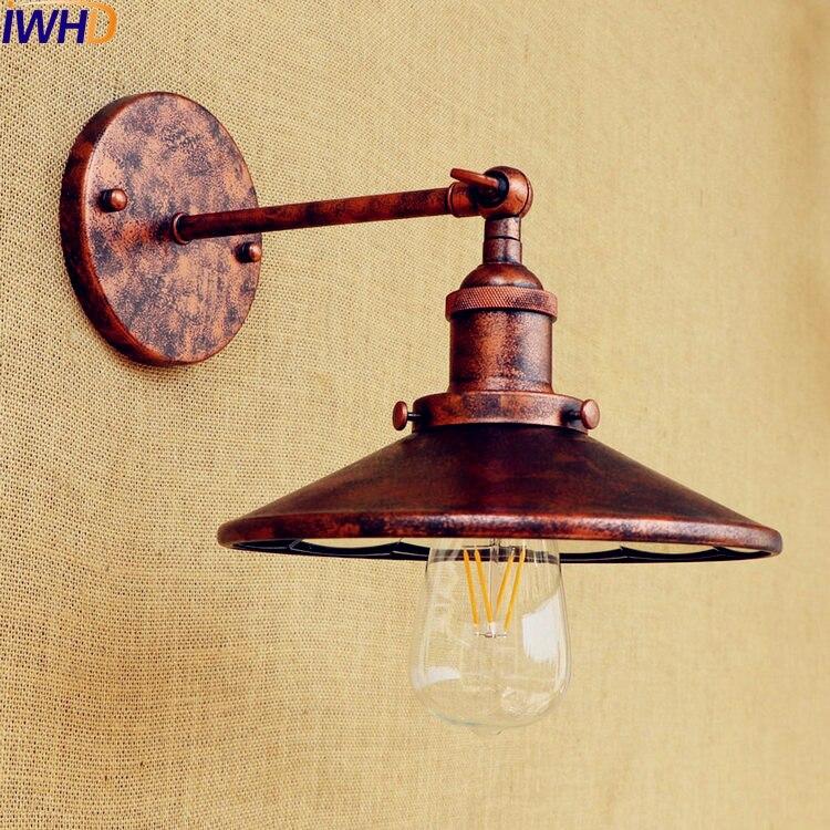 IWHD Rust Industrial Vintage Wall Lamp LED Edison Retro Wall Lights Fixtures Loft Rustic Sconce Stair Light Lampen Arandelas
