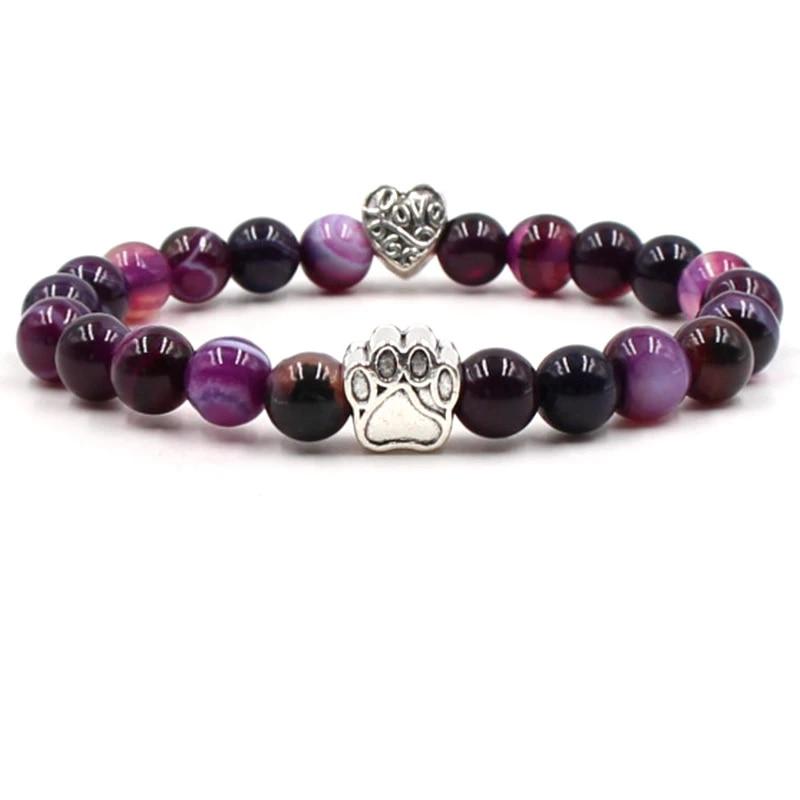double rows 8 mm  Amethyst bracelet Amethyst beads bracelet charm Bracelet