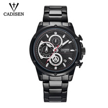 2018 Watch Men Fashion Sport Quarttz Clock Mens Watches CADISEN Top Brand Luxury Full Steel Business Relogio Masculino