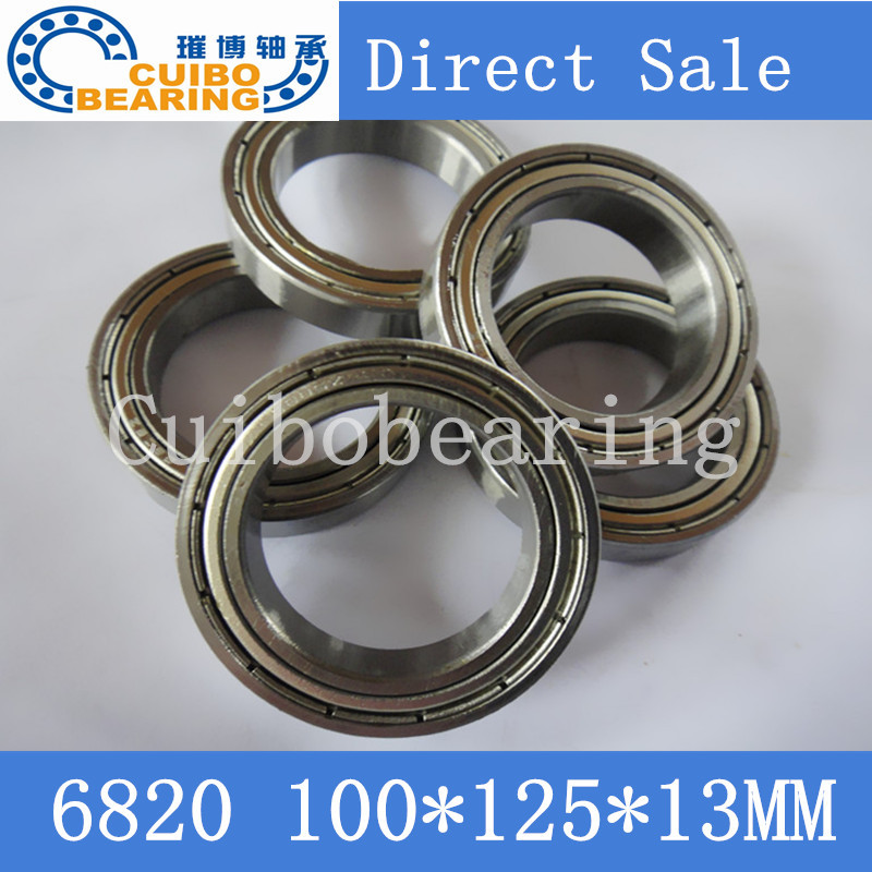 Free shipping bearing 6820 6820ZZ shielded cover thin wall deep groove ball bearings 61820 61820ZZ 100*125*13mm gcr15 6326 zz or 6326 2rs 130x280x58mm high precision deep groove ball bearings abec 1 p0