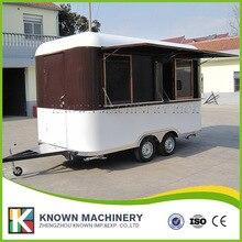 KN 400 Snack food trailer Mobile Hot Dog Vending Trailer Cart Car restaurant catering trailer with