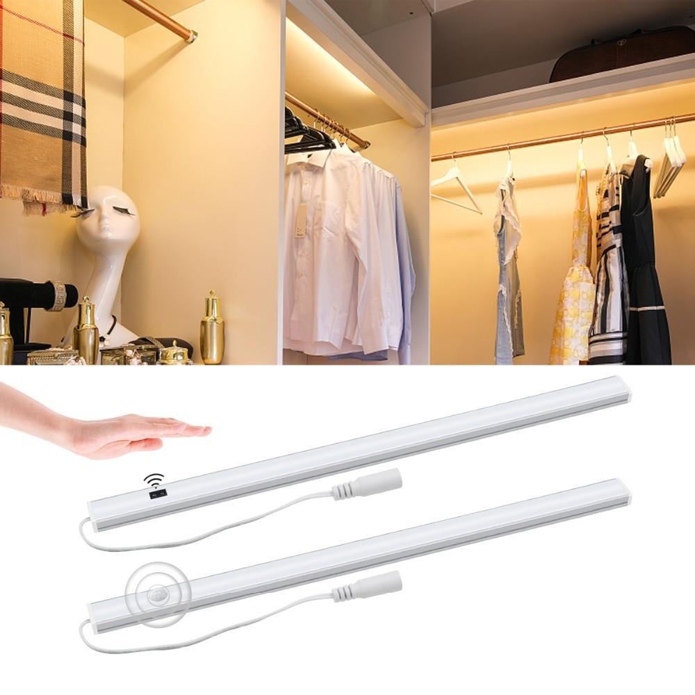 Able Smart Hand Sweep Wave /pir Motion Sensor Led Bar Light Bulb 12v 30/40/50cm Rigid Strip Kitchen Under Cabinet Wardrobe Decor Lamp Led Bar Lights Lights & Lighting