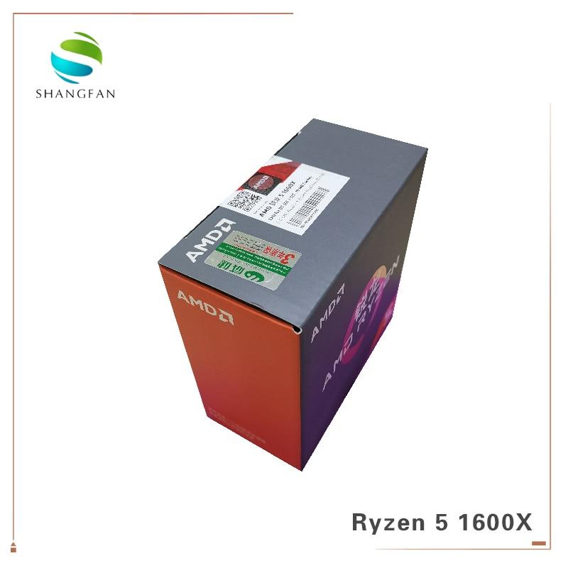 Image 2 - New AMD CPU Process Ryzen 5 1600X R5 1600X 3.6 GHz Six Core Twelve Thread CPU Processor 95W L3=16M YD160XBCM6IAE Socket AM4-in CPUs from Computer & Office