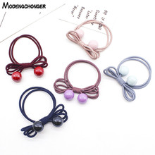 10pcs candy elastic pearl ponytail holder hair ties for girls tight elastic rubber rope bands for thick adult hair accessories Girls Bow Pearl Elastic Hair Bands Ponytail Holder Gum For Women Hair Ties Scrunchies Hair Ropes Rubber Band Hair Accessories