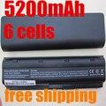 5200 mah 6 celdas de batería portátil de baterías del ordenador portátil para hp compaq cq42 cq32 mu06 mu09 g62 g72 g42 593553-001 dm4 593554-001
