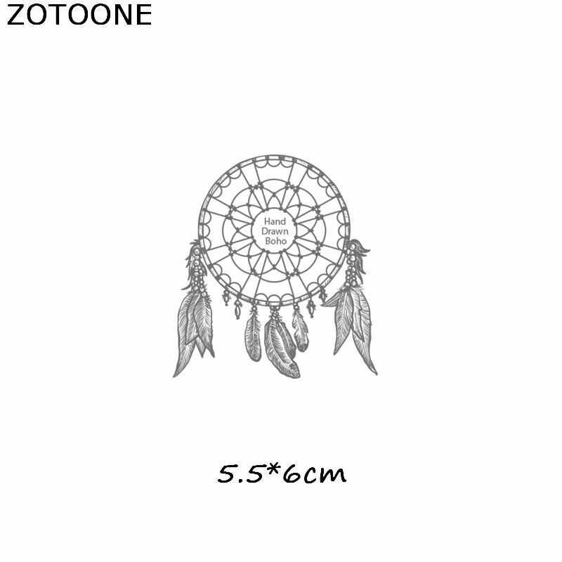 ZOTOONE Простой череп Тигр железные патчи для одежды Ловец снов теплопередача для футболок Наклейки Аппликации в подарок E