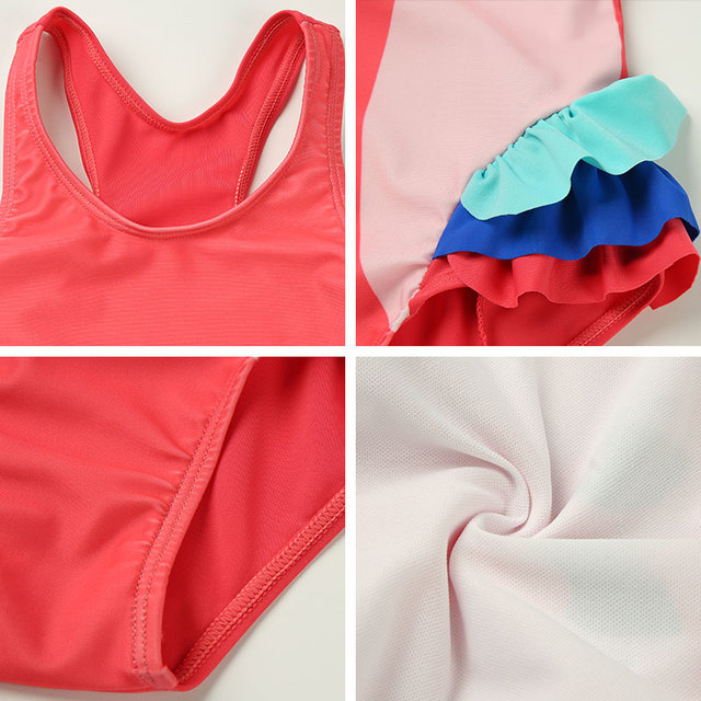 Andzhelika dzieci strój kąpielowy jeden kawałek dziewczyna Bird Print stroje kąpielowe Baby Cup Swim Hat dziecko Sport Body kąpielowy strój dla dziewczyn