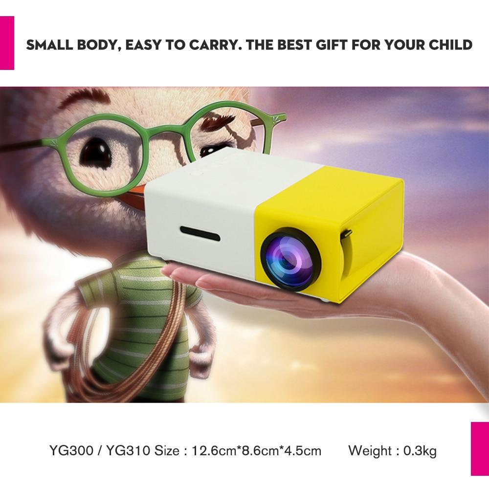 Touyinger YG-300 yg 300 mini portátil bolso led projetor beamer yg300 yg310 lcd vídeo proyector presente para crianças/sd/usb-3