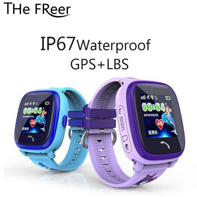 Kids Smart Watch GPS for Children Touch Screen SOS Call IP67 Waterproof Remote Control Support Multiple-language Clock Alarm