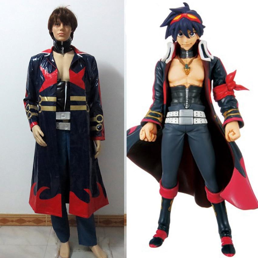 Christmas Hallowmas Tengen Toppa Gurren Lagann Captain Simon the Digger Teens Anime Pashion Uniform Clothing Cosplay Costume