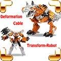 Новогодний подарок трансформация деформации кабель игрушки фигурки металла ABS робот динозавр модель большой Distorion игрушки коллекция